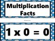 Multiplication Word Wall Headings