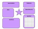 Multiplication Work Mat 3.OA.A.1, 3.MD.C.6