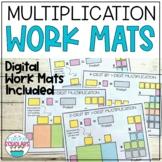 Multiplication Work Mats Printable & Digital Google Slides