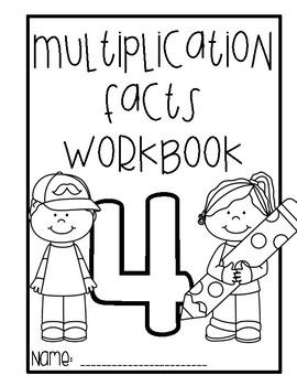 Multiplication Workbook - 4 times tables
