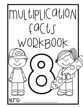 Multiplication Workbook - 8 times tables
