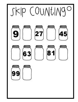 Multiplication Workbook - 9 times tables