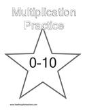 Multiplication Workbook and Multiplication Table