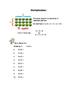 Multiplication Workbook for 2nd Grade