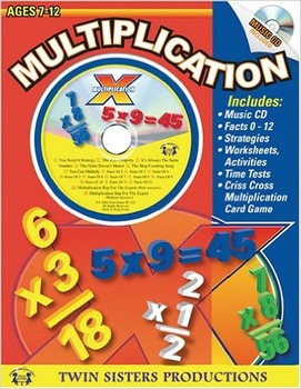 Multiplication Workbook with CD