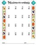 Multiplication Worksheet - 2 x 1 FALL THEME