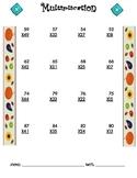 Multiplication Worksheet - 2 x 2 FALL THEME