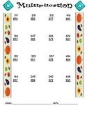 Multiplication Worksheet - 3 x 2 FALL THEME