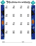 Multiplication Worksheet - 3 x 2 HALLOWEEN THEME