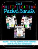Digit Multiplication Worksheet Bundle