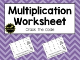 Multiplication Worksheet - Crack the Code