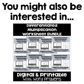 Multiplication Worksheet FREEBIE: 2 Digit by 1 Digit Multiplication