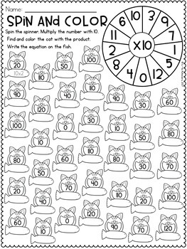 Multiplication Worksheets - Multiplication Facts Practice 10 Times Table