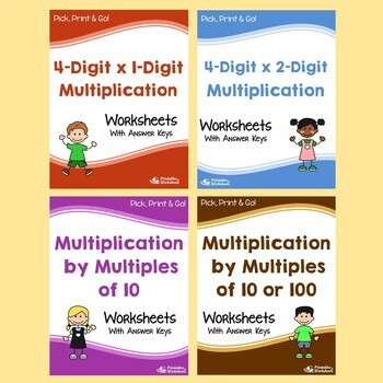 Multiplication Worksheets with Answer Keys, Multiplication Practice Sheets