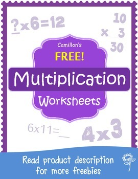Free Multiplication Worksheets with Answer Keys