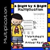 2 Digit by 1 Digit Multiplication Worksheets  Double Digit