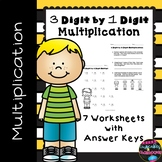 #hotwinter   Multiplication Worksheets: 3 Digit by 1 Digit