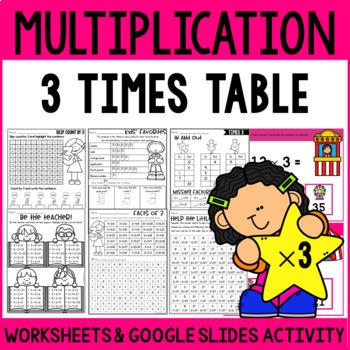 Multiplication Worksheets Multiplication Facts Practice 3 Times Table
