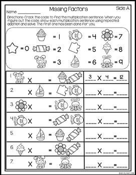 Multiplication Strategies Worksheets No Prep