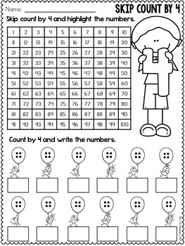 Multiplication Worksheets - 4 Times Table Practice