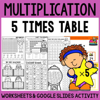 Multiplication Worksheets - Multiplication Facts Practice 5 Times Table
