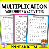 Multiplication Worksheet Packet (Distance Learning)