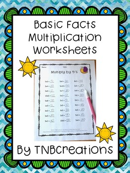 Basic Fact Multiplication Worksheets