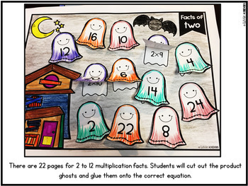 Multiplication Worksheets Cut and Paste | Multiplication Facts Practice BUNDLE