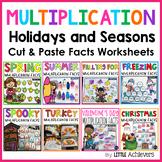 Multiplication Cut and Paste Worksheets | Multiplication Facts Practice BUNDLE