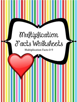 Multiplication Worksheets. Facts Families 0-9.Math Center Review