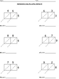 Multiplication Worksheets-Lattice, Partial Products, Stand