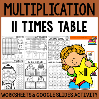 Multiplication Worksheets - Multiplication Facts Practice 11 Times Table