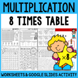 Multiplication Worksheets - Multiplication Facts Practice 8 Times Table