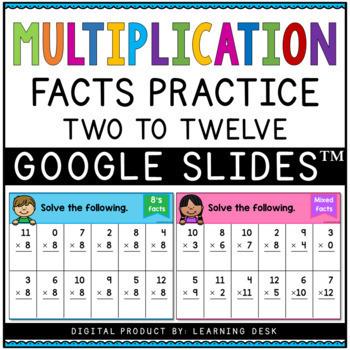 Multiplication Worksheets - Multiplication Facts Practice Bundle