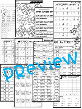 Multiplication Worksheets - Multiplication Facts Practice - REVIEW