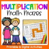 Multiplication Math Mazes: Multiplication Worksheets for Multiplying up to 12x12