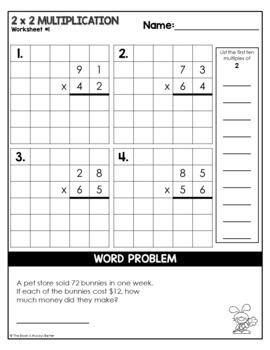 2x2 multiplication worksheets