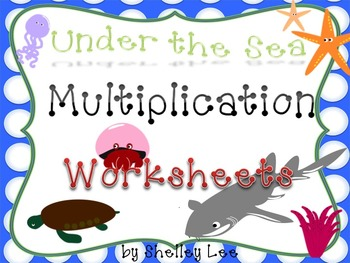 Multiplication Worksheets: Under the Sea Theme