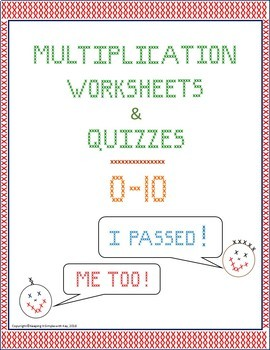 Multiplication Worksheets and Quizzes