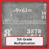 Multiplication Worksheets for 5th Grade