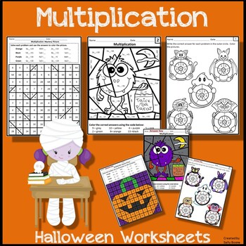Multiplication Worksheets for Halloween
