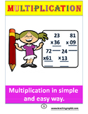 Multiplication of two 2-digit numbers.