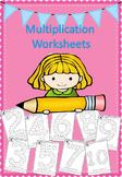 Multiplication Worksheets - q-tip, dab or color!