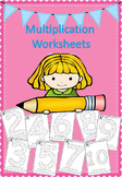 Multiplication Worksheets - q-tip, dab or color!