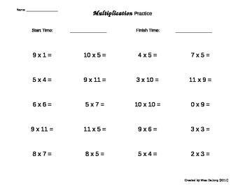 Multiplication worksheets self generating 20 questions per page ibookread ePUb