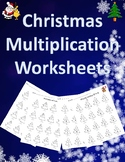 Multiplication Worksheets with Answer Key (Christmas Edition)