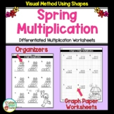 Multiplication Worksheets with Organizers for Spring