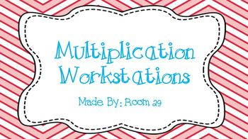 Multiplication Workstations: Arrays, Repeated Addition, & Number Lines