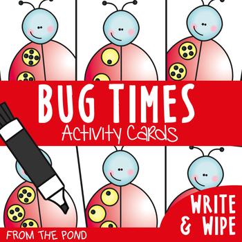 Multiplication Write n Wipe Cards + Craft - Bug Times