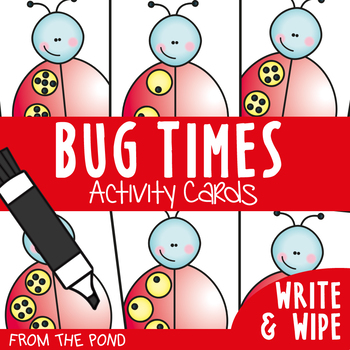 Multiplication Write n Wipe Cards + Craft - Bug Times